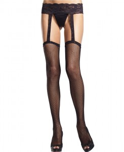 Thigh Highs w/Garter Belts - Sheer Spandex Garter