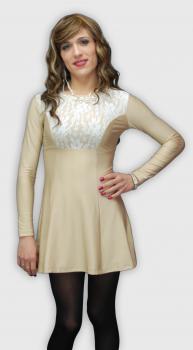 Kat Dress - Tan